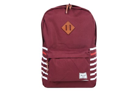 Herschel Sac à dos Heritage Offset windsor wine offset stripe/veggie tan leather
