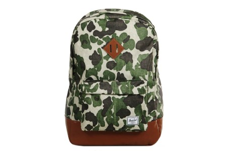 Herschel Sac à dos Heritage frog camo/tan synthetic leather