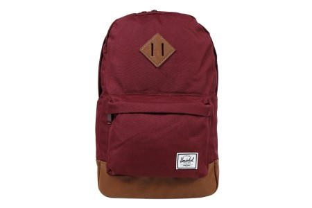[BLACK FRIDAY] Herschel Sac à dos Heritage Mid Volume windsor wine/tan synthetic leather
