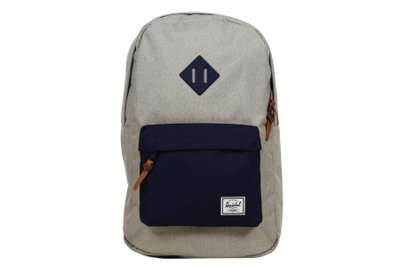 [BLACK FRIDAY] Herschel Sac à dos Heritage Mid Volume light khaki crosshatch/peacoat rubber