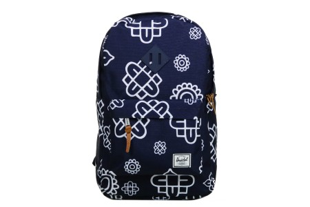 Herschel Sac à dos Heritage Mid Volume peacoat paisley print/peacoat rubber