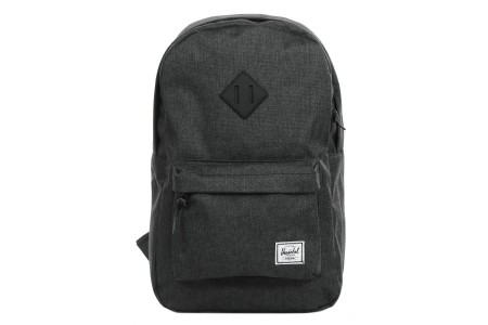 Herschel Sac à dos Heritage Mid Volume black crosshatch/black rubber