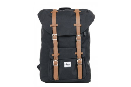 [BLACK FRIDAY] Herschel Sac à dos Little America Mid Volume black/tan