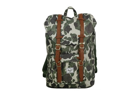 Herschel Sac à dos Little America Mid Volume frog camo/tan synthetic leather