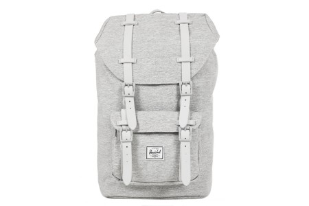 [BLACK FRIDAY] Herschel Sac à dos Little America Mid Volume light grey crosshatch/grey rubber