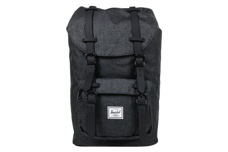 [BLACK FRIDAY] Herschel Sac à dos Little America Mid Volume black crosshatch/black rubber