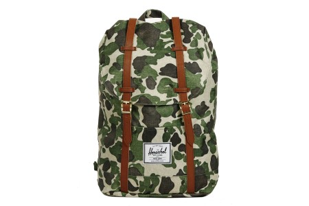 Herschel Sac à dos Retreat frog camo/tan synthetic leather