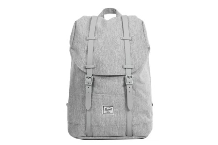 Herschel Sac à dos Retreat Mid-Volume light grey crosshatch/grey rubber
