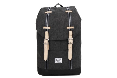 Herschel Sac à dos Retreat Mid-Volume Offset black crosshatch/black