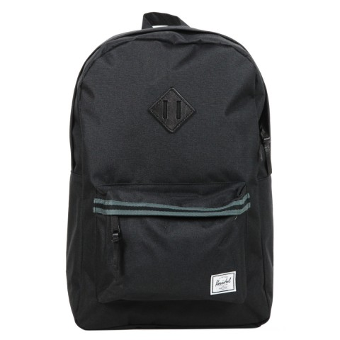 Herschel Sac à dos Heritage Offset black/dark shadow/black veggie tan leather