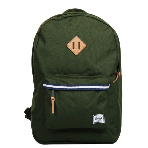 Herschel Sac à dos Heritage Offset forest green/veggie tan leather