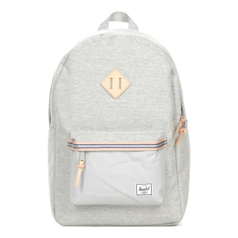 Herschel Sac à dos Heritage Offset light grey crosshatch/high rise