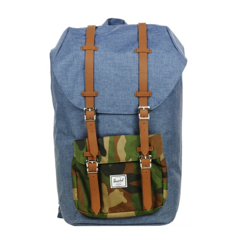 Herschel Sac à dos Little America navy crosshatch