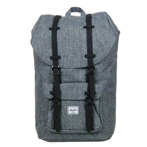 Herschel Sac à dos Little America raven crosshatch/black rubber