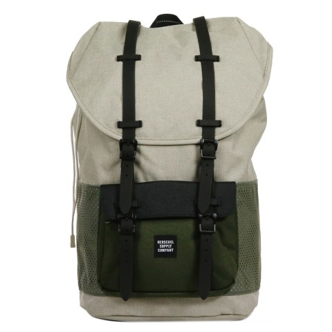 Herschel Sac à dos Little America Aspect light khaki crosshatch/forest night/black rubber