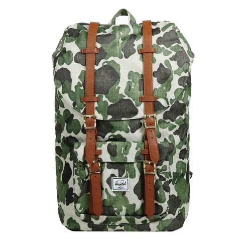 Herschel Sac à dos Little America frog camo/tan synthetic leather