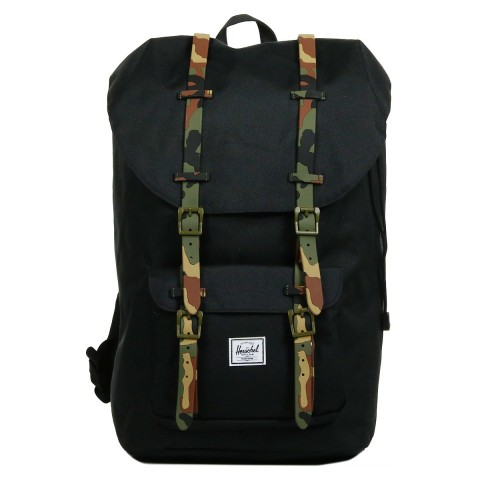 Herschel Sac à dos Little America black/woodland camo rubber