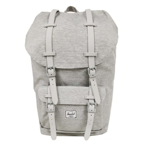 Herschel Sac à dos Little America light grey crosshatch