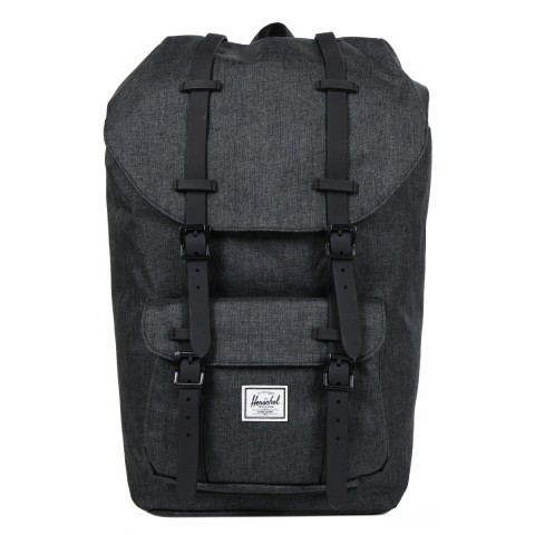 Herschel Sac à dos Little America black crosshatch/black rubber