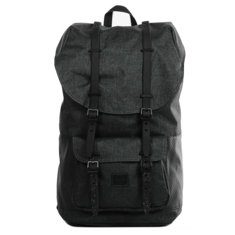 Herschel Sac à dos Little America Aspect black crosshatch/black/white
