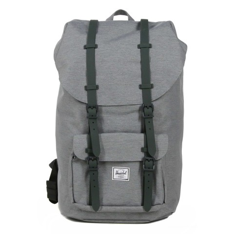 Herschel Sac à dos Little America mid grey crosshatch