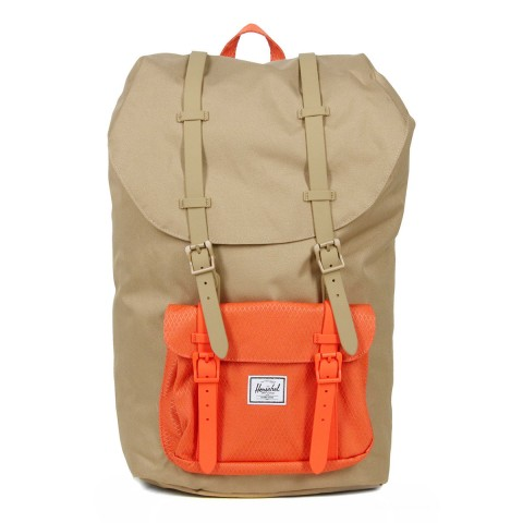 Herschel Sac à dos Little America kelp/vermillion orange