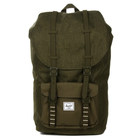 Herschel Sac à dos Little America olive night crosshatch/olive night