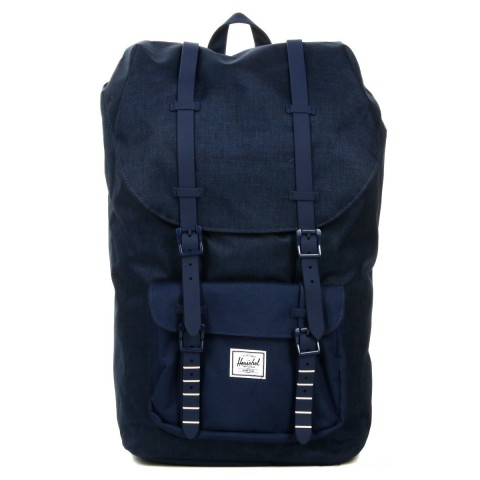 Herschel Sac à dos Little America medievel blue crosshatch/medievel blue