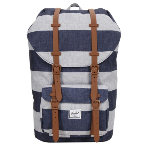 Herschel Sac à dos Little America border stripe/saddle