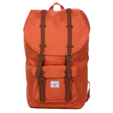 Herschel Sac à dos Little America apricot brandy/saddle brown