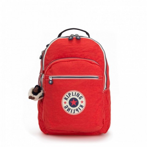 Kipling Grand Sac à Dos Avec Protection Pour Ordinateur Portable Active Red Bl