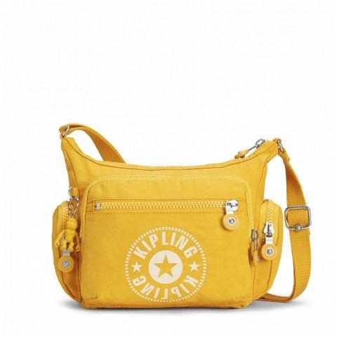 Kipling Sac Bandoulière avec Compartiment pour Téléphone Lively Yellow