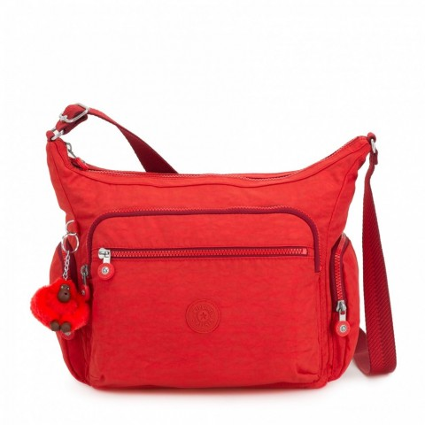 Kipling Sac épaule Medium Avec Bretelle Ajustable Active Red