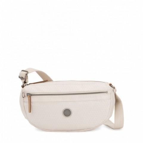 Kipling Petit sac à bandoulière avec bretelle réglable Triangle White