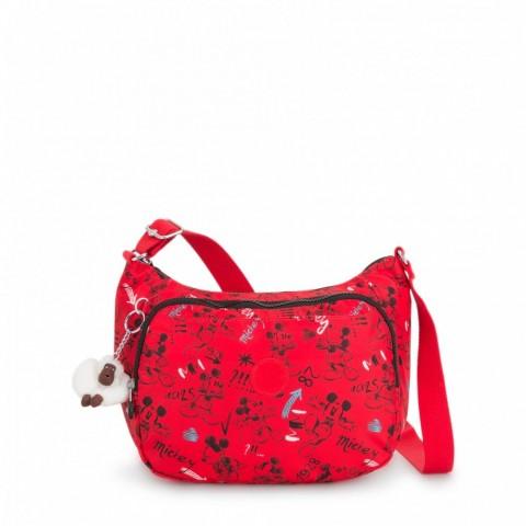 Kipling Sac à bandoulière moyen avec bretelle réglable Sketch Red