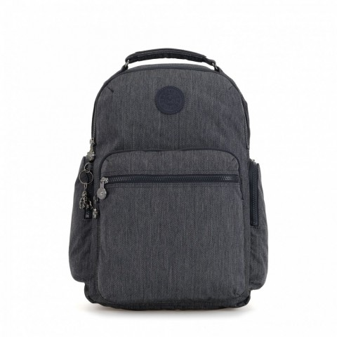 Kipling Grand sac à dos avec poches d'organisation Active Denim