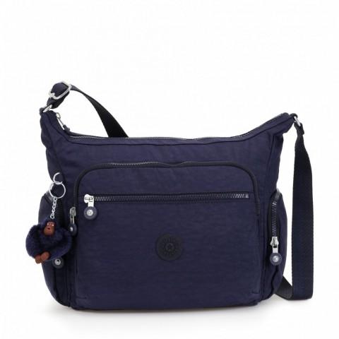 Kipling Sac épaule Medium Avec Bretelle Ajustable Active Blue