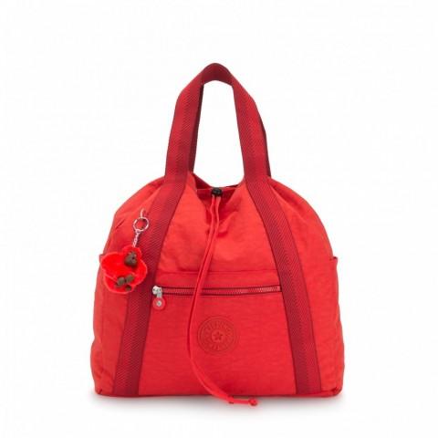 Kipling Sac à dos moyen avec cordon de serrage Active Red