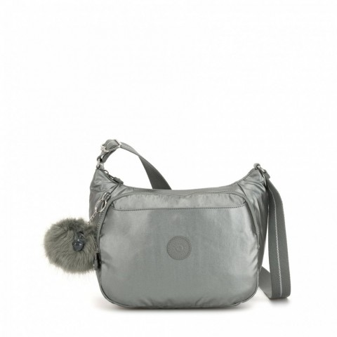 Kipling Sac à Main Imprimé avec Sangle Extensible Metallic Stony